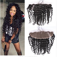 Wholesale Vip Hair Extensions - 2016 Years VIP Factory Price Wet And Wavy Deep Wave Hair Bundles With Lace Frontals Closure Brazilian Hair Extensions With 13x4 Lace Frontal