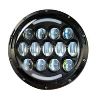 Wholesale projector low beam - 7inch 78W LED Headlights with DRL High Low Beam for Wrangler Jk Harley Davidson Motorcycle projector Daymaker headlamp