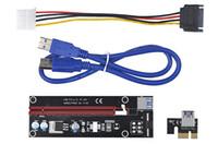 pess extended card achat en gros de-Câble d'extension PCI-Express X1 à X16 avec bloc d'alimentation grand 4 broches et USB 60cm | Adaptateur de carte de montage PCIe 1x à 16x | Pour l'exploitation minière de Bitcoin