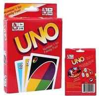 Wholesale Playing Cards Puzzle - UNO card game Funny Entertainment Board Games UNO Fun Poker Playing Cards Puzzle Games family fun games free shipping in stock