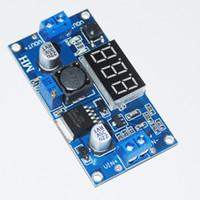 Wholesale Voltage Regulator Adjustable - Wholesale-LM2596 DC LED Voltmeter 4.0~40 to 1.3-37V DC-DC Step Down Buck Converte Adapter Module Adjustable Power Supply Voltage Regulator