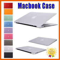 Wholesale Ipad Frosted Hard - Frosted Matte Hard Rubberized Shell Macbook Skin Cover Case Protective Cases for Macbook Air Retina Pro 11 12 13 15 inch