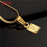 Wholesale Indian Gold Dollar - 2016 New hiphop gold necklaces & Pendants for men jewelry unisex statement dollar square symbol women collier femme bijoux maxi collares