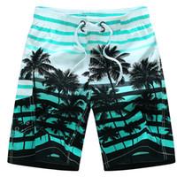 moda mais tamanho swimwear venda por atacado-Atacado-Moda Imprimir Plus Size Swimwear Loose Quick Dry Swimwear Homem Curto