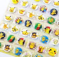 Wholesale Wholesale Bling Brooches - Pikachu The elves ball bling bling 48pcs lot Christmas brooch Pins,Christmas decorations Poke Ball , kids lovely gifts Free shipping A-0390
