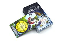 Wholesale Tarot Cards For Wholesale - Wholesale- 2016 new animals tarot cards English and Chinese version best quality board game playing cards for family cards game