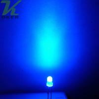 3mm levou azul difuso venda por atacado-1000 pcs 3mm Azul difusa LED Light Lamp levou Diodos 3mm Difundido Azul Ultra Brilhante Rodada Luz LED Frete Grátis