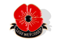 "Wholesale Enamel Pin Badges - ""Lest We Forget"" Enamel Red Poppy Brooch Pin Badge Golden Flower Remembrance Day Gift DHL free shipping"