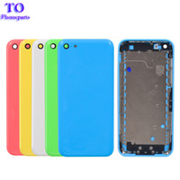 Wholesale 5c back case online – custom Full Housing Middle Frame For iPhone C Back Battery Cover Rear Door Housing Case Middle Chassis For iPhone C Rear Housing