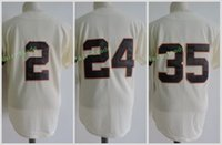 Wholesale Fox Cream - Houston #2 Nellie Fox #24 Jimmy Wynn #35 Joe Morgan Jerseys Cool Base 1964 Throwback Stitched Beige Cream