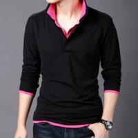 Wholesale Long Sleeve Professional Clothing - HOT spring and autumn men's double collar cotton long sleeve boss brand polo T shirts professional clothes tees M-3XL MT04