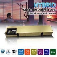 Wholesale Dvb T Usb Tv Box - KS2 DVB-T2 Soundbar Hybrid Amlogic S905 TV Box Quad Core Android 5.1.1 Internet Smart Audio System 1GB 8GB WIFI Gigabit LAN