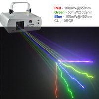 Wholesale Pro Professional Dj - New SHINP RGB Full Color DMX 512 Beam Laser DPSS Projector Lights PRO DJ KTV Disco Stage Lighting Scanner CL-10RGB