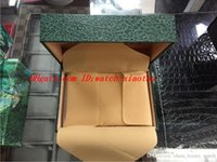 caixas de relógio de luxo venda por atacado-Verde de alta qualidade de luxo com caixa original caixa de relógio de madeira Papers Card Wallet BoxesCases caixa de relógio de pulso