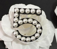 Wholesale Scarves Wedding Dresses - Fashion pin up Brooch vintage pearl brooches for wedding dress scarf black 5 brooches