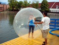 cremallera para bola de agua al por mayor-Envío Gratis Alemania cremallera 2m inflable Caminar sobre el agua globo de agua Water Ball Rolling Ball Zorb pelota inflable humana del hámster