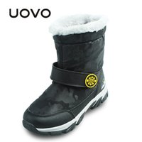 Wholesale Snow Boots For Kids Waterproof - UOVO Kids Snow Boots Winter Thermal Shoes For Boys Girls Shoes Nonslip Shoes Waterproof Purple Boots For Children Mid-Calf
