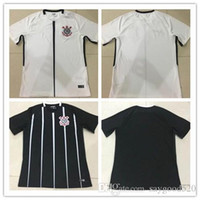 Wholesale Catsuit Custom - ^_^ Wholesale 17 18 corinthian soccer jerseys TIMAO home away thai AAA quality custom name number soccer uniforms football shirts clothing