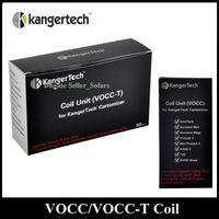 kangertech spulen 1.5 groihandel-Ursprünglicher KangerTech VOCC-T Spulen-Ersatz-Zerstäuber-Kopf 0.8 / 1.0 / 1.2 / 1.5 / 1.8ohm gepaßter Kanger Aerotank EVOD Glasbehälter
