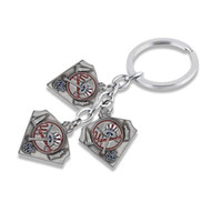 Wholesale Yankees Girl - Different types of key rings crystal mental New York Yankees team logo keychain