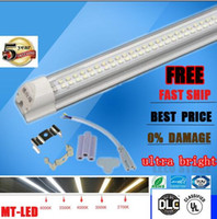 Wholesale Cheap T8 Led Tube Lights - 30pcs cheap Integrated T8 Led Tube Light Double row Sides 4ft 5ft 6ft 8ft Cooler Lighting Led Lights Tubes AC 85-265V With All accessories