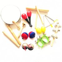 Wholesale Musical Instruments Set Kids - 11 types Kids Preschool Early Education Toy Orff Musical Rhythm Percussion Instruments Set Kit