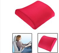 Wholesale Auto Seat Cushion Back Support - Free Shipping Memory Foam Lumbar Back Support Cushion Pillow Home Car Auto Office Seat Chair
