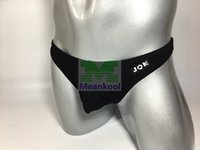 Wholesale Lycra G Thongs - JQK sexy underwear men thong jockstrap gay mens thongs and g strings men cotton underwear bag design Ding men fashion 318