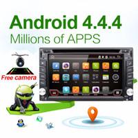 Wholesale Car Navigation 2din - Car Electronic autoradio 2din android 4.4 car dvd player stereo GPS Navigation WIFI+Bluetooth+Radio+1.2G CPU+3G+TV (Option)
