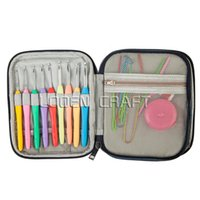 Wholesale latch hook wholesale - 36Pcs set Multi Colour Crochet Hooks Yarn Knitting Needles Set Kit with Case Tools ,Curve Needle Crochet Latch DIY Crafts Tools