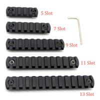 Wholesale Picatinny Handguard - 5 7 9 11 13 slots M-lok Picatinny Rail Sections Black Anodized For M-lok Free Float Handguard Rail System Free Shipping
