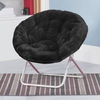Wholesale Faux Chairs - Mainstays Faux-Fur Saucer Chair Black