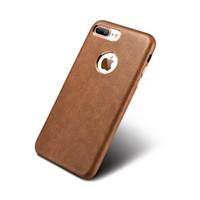 золото iphone s оптовых-Оригинальный Xoomz для Apple Iphone 7 6 6 S плюс телефон случаях, старинные искусственная кожа позолоченный тонкий задняя крышка чехол для Iphone 6 7 плюс