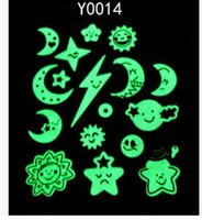 Wholesale Luminous Wall Stickers For Children - Many stars luminous fluorescence sticker children room dormitory adornment wall stick different pattern randomly free shipping HY830