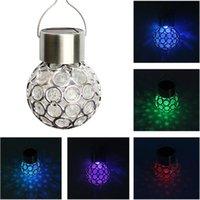 d68e299eba834 Bola de cristal colorida que cuelga las linternas de la luz solar  decoraciones del árbol de navidad luz del jardín Iluminación al aire libre  de la lámpara ...