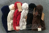 Wholesale Cheap Men Beret Hats - MOQ=10PCS Autumn winter brand design warm hat woman and man hat fashion Knitted cap Wool hat 8colors black red free shipping FACTORY CHEAP
