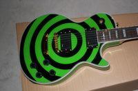 Wholesale Custom Shop Guitar Green - Wholesale Custom Shop Rosewood Fretboard 6 Strings Zakk Wylde Bullseye Green Electric Guitar