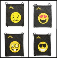 Wholesale 12 Drawstring Backpacks - 12 Styles Emoji Oxford Bags Fashion Unisex Travel Beach Storage Bags Drawstring Bag Christmas Gifts CCA7870 50pcs