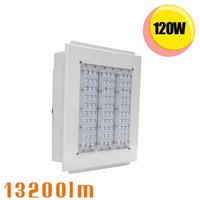 Wholesale Commercial Parking Lights - 120 Watt LED Canopy fixture Outdoor Commercial Lighting Gas Station Parking Garage Lamp Retrofit 400W HID Metal Halide Light