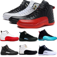 Chaussures de basket-ball Air Retro 12 XII Hommes Retro OVO White Grippe Gym Gym Tennis sportif rouge