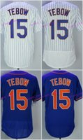 Wholesale Free Tim - Hot #15 Tim Tebow 2017 New York Men All Stitched Embroidery Baseball Jersey S-XXXL Fast Free Shipping