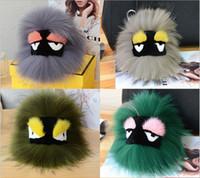 Wholesale New Trendy Ornaments - Little monster fox fur ball bag pendant ornaments car key ring Plush Doll new style bag pendant key ring car ornaments accessories decor
