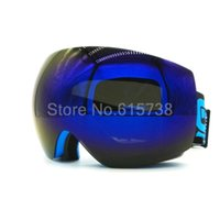Wholesale Double Ski Goggles - New brand professional ski goggles 2 double lens anti-fog UV400 big spherical ski glasses skiing men women snow goggles