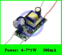 Wholesale Led 12v Current Driver - Constant Current 7w LED Driver 300mA 6W 6x1W 7x1W LED Transformer AC 85V 110V 220V 265V DC 12V 16V