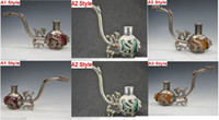 Wholesale Old Jade - 3 Style Wholesale HOT Chinese Old Antiques Handmade Jade silver Pipe Leading