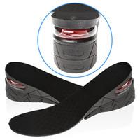 ingrosso scarpe suola-3 strati Stealth rialzi regolabili per uomo Scarpe da donna Pad Sollevamento altezza Soletta Cuscino prendisole nero Air Tall