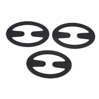 Wholesale Perfect Cleavage - Wholesale-3 Pcs Oval Shape Perfect Adjustable Bra Strap Clip Cleavage Control Black