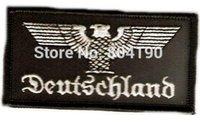 Wholesale Military Biker Patches - Deutschland Germany Eagle MORALE MILITARY IRON ON PATCH MC BIKER VEST PATCH BACK OF JACKET APPLIQUE PARTY FAVOR