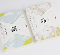 Wholesale Wholesale Fishing Books - Wholesale- Japan fashion dragonfly and fish them notebook 12.5*18.5cm plain book 80 pages blank sheets office school supplies gift