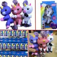 Wholesale Electronic Party - 2017 Newest Funny Gigi Finger toy Unicorn Fingerling Electronic Smart Touch Finger t Interactive Baby Unicorn Finger Toy Party Christmas Gif